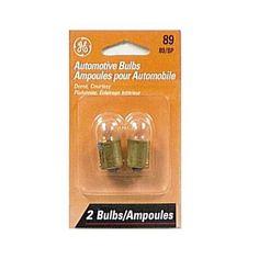 GE 89 - 8W 12.8V BA15s G6 Automotive Lamp - 2 Bulbs