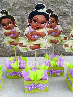 Princess and The Frog Birthday Centerpiece by RosiesPoshParties