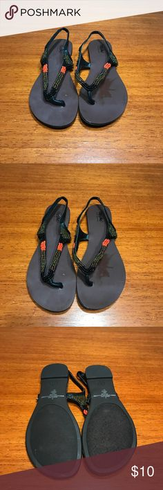 Gently Used Mossimo Beaded Sandals! Gently used!  Mossimo Black beaded sandals size 6! Mossimo Supply Co Shoes Sandals
