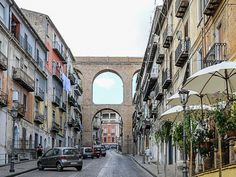 Via Roma below the Canal Bridge in the historic city centre of Corigliano Calabro