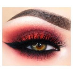 Red eye makeup ❤ liked on Polyvore featuring beauty products, makeup, eye makeup, eyes and beauty