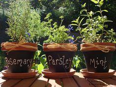 Chalkboard pots!
