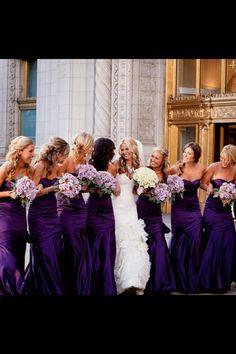 bridesmaid wedding  Lavande & Purple