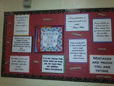 Quotes for classroom scrabble theme