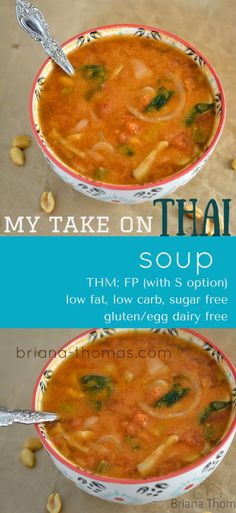 My Take on Thai Soup...THM:FP (with S option), low fat, low carb, sugar free, gluten/egg/dairy free