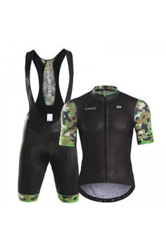 969f85e51ac 2016 Mens Cycling Clothing Outfits CAMO Disguiser Green Cycling Outfit