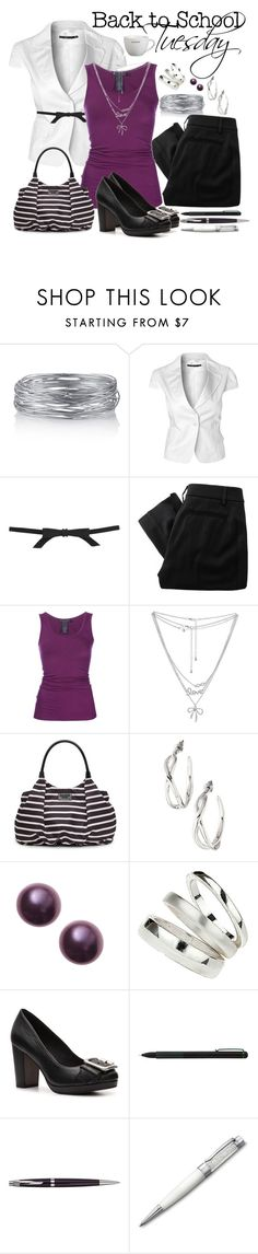 Back to School: Tuesday #2 by namelessfashionista on Polyvore featuring Donna Karan, Raxevsky, Vivienne Westwood Red Label, FOSSIL, Kate Spade, Wet Seal, Wallis, Stella & Dot, Topshop and Swarovski