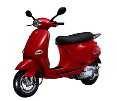 """Vespa ET4 125cc, 1996 - The """"new generation Vespa"""" with a four-stroke engine, launched on the 50th anniversary. In 1997 and 1998 it was the best selling two wheeled vehicle (including motorcycles) all around the Europe and it was followed by the ET2 50 cc version and then in 1999 also by the classic ET4 150 cc."""