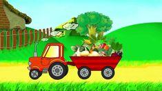 Мультик про трактор. Учим овощи. Трактор развивающий мультфильм