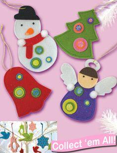 felt ornaments with circles