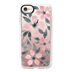 Spring flowers watercolor n.5 - iPhone 7 Case And Cover (1.155 UYU) ❤ liked on Polyvore featuring accessories, tech accessories, phone cases, phone, tech, cases, iphone case, clear iphone case, clear flower iphone case and iphone cases