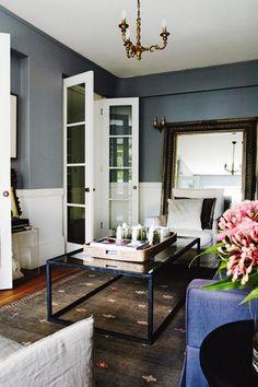 living room mirror coffee table rug