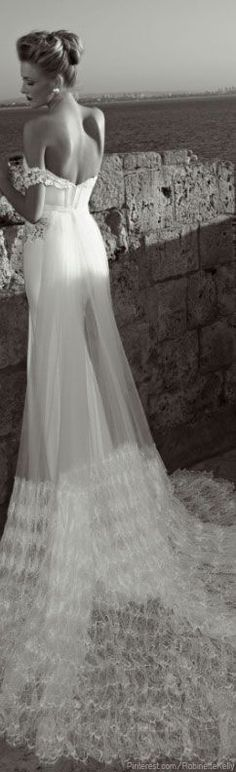Zoog Brida off the shoulder wedding dress so lovely.