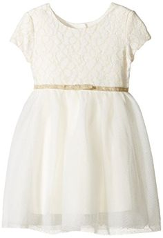 6e7d438bf06 Amazon.com  The Children s Place Little Girls and Toddler Short Sleeve Lace  Bodice Skater Dress