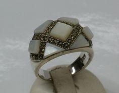 Vintage Ringe - Ring 925 Silber Achat und Markasiten Vintage SR600 - ein Designerstück von Atelier-Regina bei DaWanda