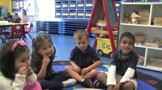 "3 years old children doing the thinking routine ""step inside"" ≈≈"