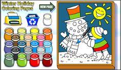 Actividades para Educación Infantil: Pintamos un snowman