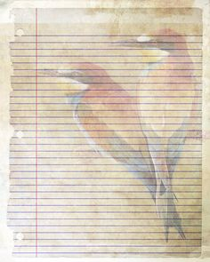Printable Journal Page Bird Writing Lined by JournalExpress