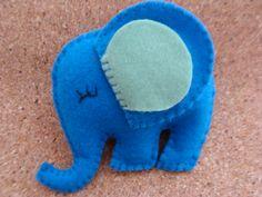 Como Fazer Elefante de Feltro – Passo a Passo + Molde