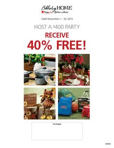 November Hostess Special! Contact me to book your Party! www.celebratinghome.com/sites/michelekelley