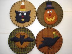 wool scrap projects | The Wooden Acorn: Wool Applique Penny Rug Projects