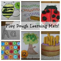 Make some homemade play dough mats for fun, creative ways to learn basic number and letter skills!