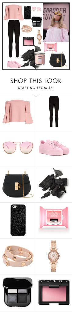 """Untitled #30"" by volohovic-renia ❤ liked on Polyvore featuring Topshop, Paige Denim, Quay, Kenzo, Chloé, Tory Burch, Michael Kors, NARS Cosmetics and Yankee Candle"