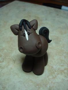 Horse Clay Figurine. $6.00, via Etsy.