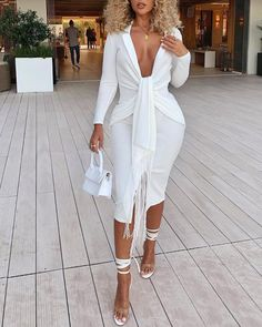 All White Party Outfits, White Outfits For Women, Holiday Outfits, Classy Outfits, Clothes For Women, White Party Attire, White Party Dresses, Elegant Dresses, Wedding Dresses