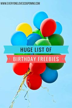 Did you know that ALOT of places give you free stuff JUST because it's your birthday? This is just a small list! My birthday is coming up in July, so I'll be on the look out and updatin… Saving Ideas, Money Saving Tips, Ways To Save Money, How To Make Money, Dollar General Couponing, Birthday Freebies, Budget Holidays, Frugal Living Tips, Financial Tips