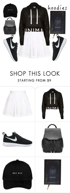 """""""Black Hoos ⭕"""" by milkdytea ❤ liked on Polyvore featuring Topshop, River Island, NIKE and rag & bone"""