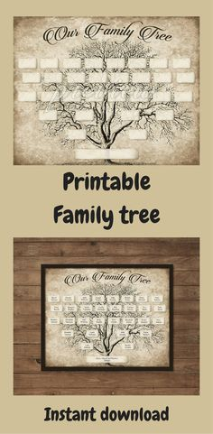 Custom Family Tree. #Printable 5 Generation Template, #INSTANTDOWNLOAD, Editable Fillable PDF Form, Genealogy Print, Ancestry Chart, Vintage #affiliate #etsy