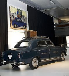 Peugeot 403, Tintin - Les bijoux de la Castafiore, page 56 • car from the Castafiore Emerald • Tintin, Herge j'aime