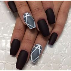 60 Pretty Matte Nail Designs ❤ liked on Polyvore featuring beauty products, nail care, nail treatments, nails, beauty and makeup