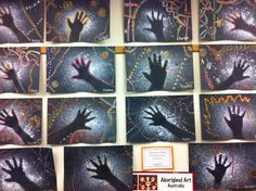 Aboriginal rock art - Use as the first intro to Australian art in the indigenous unit Classroom Art Projects, School Art Projects, Art Classroom, Aboriginal Art For Kids, Aboriginal Education, Indigenous Education, Aboriginal Culture, Art Plastique Halloween, Australian Art For Kids