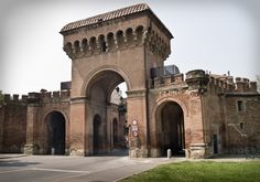 The Porta Saragozza of Bologna was one of the gates or portals in the medieval walls of this city