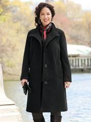 Plus Size Three-quarter Swing Coat
