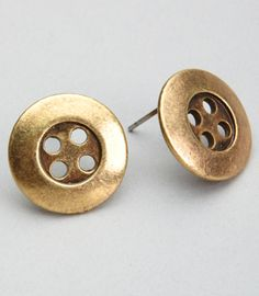 """""""Button up"""" Earrings"""