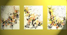 Original Abstract Modern Contemporary Paintings & Art More then just a painting for your walls. UNIQUE & ORIGINAL art for YOUR LIFE!     These paintings are my own unique creations inspired by the great artist of the 1950's Abstract Expressionism Movement.     3 - Original 24'x19' tempera painting on Strathmore, mixed media acid free, archival artist paper sprayed with an archival coating. All pieces are ready to frame. Additional images for display purposes only.    Yes this listing is for…