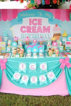 You can bring ice cream mama First Birthday Parties, Birthday Party Themes, First Birthdays, Birthday Ideas, 3rd Birthday, Birthday Candy, Carnival Birthday, Ice Cream Theme, Ice Cream Party