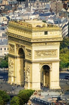 I'll go someday ღ Arc de Triomphe, Paris, France.the mouth of chi. many European cities have large gates to anchor a heart point to the city Places Around The World, Oh The Places You'll Go, Places To Travel, Places To Visit, Around The Worlds, Torre Eiffel Paris, Tour Eiffel, Paris Travel, France Travel
