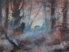 Disney concept art - Fox and the Hound