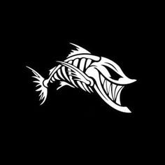 Custom Sticker Shop® - Decal Stickers for Jeeps, Cars Trucks & more! Stencil Art, Stencils, Snakehead Fish, Fish Skeleton, Wood Fish, Fish Logo, Nerd Gifts, Fish Art, Vinyl Decals