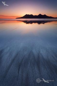 landture: Laig Bay Sunset. Cleadale. Isle of Eigg. Scotland. by photosecosse