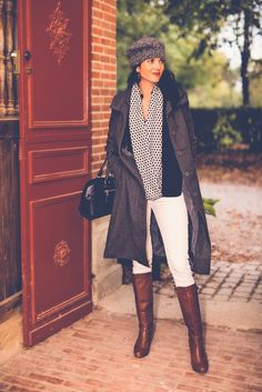 stable door : manteau et beret gris - we are fashionable Stables, Doors, Chic, Blog, Clothes, Fashion, Welcome, Bonjour, Mantle