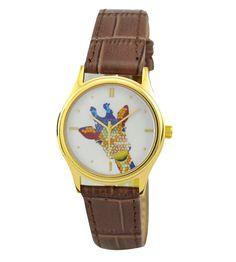 Ladies Giraffe Watch Colorful gold by SandMwatch on Etsy