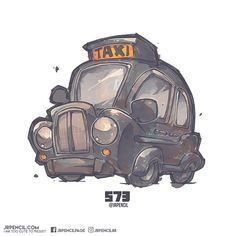 573 - London Cab, Jr Pencil on ArtStation at https://www.artstation.com/artwork/2XXdg