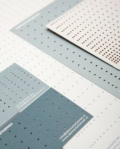 punched business cards.
