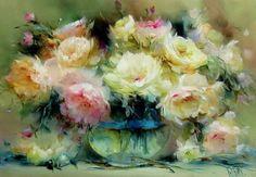 Pastels Pastel Drawing, Pastel Art, Flower Canvas, Flower Art, Still Life Flowers, Floral Artwork, Russian Art, Abstract Flowers, Beautiful Paintings