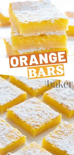 Orange Bars are perfect dessert for orange lovers! These are packed with orange flavor and seriously sweet! One of the best summertreat for the family and friends! Orange Bar Recipes, Orange Recipes Healthy, Orange Flavored Cake Recipe, Orange Extract Recipes, Easy Desserts, Delicious Desserts, Dessert Recipes, Health Desserts, Dinner Recipes